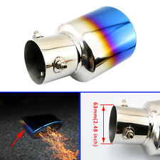 Universal Steel Auto Truck TailPipe Muffler Rear Exhaust Tips Cover 63 mm 2.48""