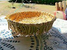 "Cesta de tamiz Hopi yuca Diseño Geométrico Color Natural 7""W 2 1/2"" H sudoeste"