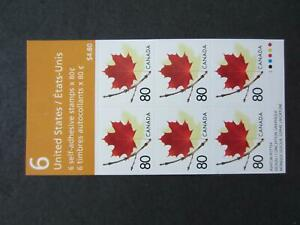 Canada mint nh  booklet of 6 , Booklet 282, 80 cent maple leaf
