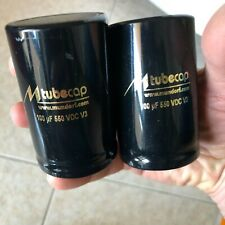 2 x MUNDORF Tube Cap 100µf 550V _ Electrolytic capacitor for tube amps