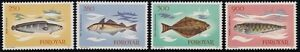 /FAROE ISLANDS 1983 Fishes 4v set MNH @M231