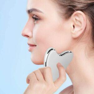 Massage Tool Gua Sha Facial Tools Heart Shaped Scraper Board Steel Scraping UK