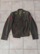 USMC MARINE CORPS ALPHA SERVICE JACKET COAT 38 L Enlisted Blouse used
