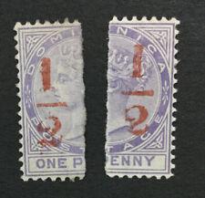 MOMEN: DOMINICA SG #11 1882-3 MINT OG H LOT #193108-1718