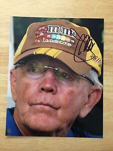 Joe Gibbs Signed 8x10 Photo NASCAR autograph COA