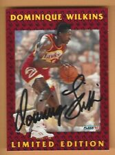 DOMINIQUE WILKINS 1992 FLEER  LIMITED EDITION AUTOGRAPH CARD #12 OF 12