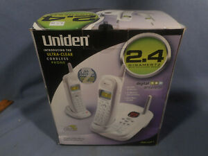 New UNIDEN DXAI 7288-2 ULTRA-CLEAR 2.4 GHZ CORDLESS WHITE PHONE * Sealed NIB *