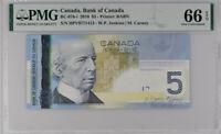 Canada 5 Dollars 2006 / 2010 P 101A/d GEM UNC PMG 66 EPQ