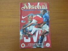 Arsenal v Nottingham Forest - FA PL - Season 1996 - 97 (VGC).