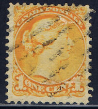 Canada #35(32) 3 cent yellow orange Victoria DUPLEX Cancel