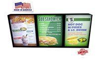 Restaurant Menu Displays,Menu Boards,Fast food,Restaurant H:24''x54''x1.75''