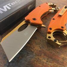 TACTICAL Spring Assisted Open Pocket Knife CLEAVER RAZOR FOLDING Titanium Blade