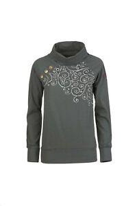 E9 Sara Women Long Sleeve Shirt with Turtleneck for Ladies Iron