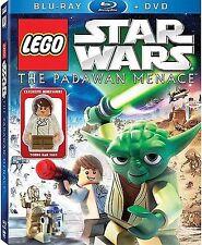LEGO Star Wars The Padawan Menace Blu-ray + DVD - NEW Young Han Solo Minifigure!