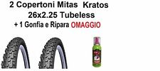 2 Copertoni Mtb 26 Bici Mitas Kratos Tubeless 26x2.25 Pieghevole Bicicletta