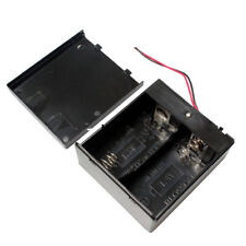 1 PCS 2x D Cell Battery Holder Box 3V DC Case with Wire Lead Cover Switch ON/OFF
