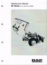 DAF 80 SERIES 4x2 & 6x2 TRUCK 1991- ORIGINAL FACTORY MAINTENANCE MANUAL