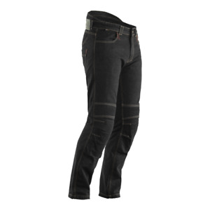 RST ARAMID CE Black TECH PRO SHORT LEG Abrasion Drag Denim Motorbike Armour Jean