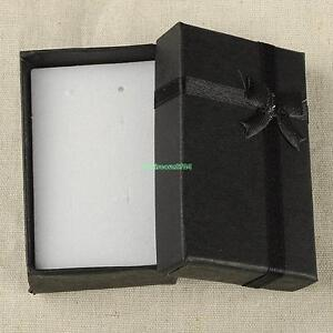 16x Bangle Jewelry Ring Earring Watch Gift Paper Box Bowknot Case Package Black