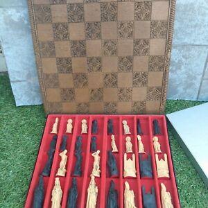 Chess set vintage And Board rare unique