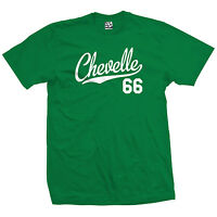 Chevelle 66 Script Tail Shirt - 1966 Classic Muscle Race Car - All Size & Colors