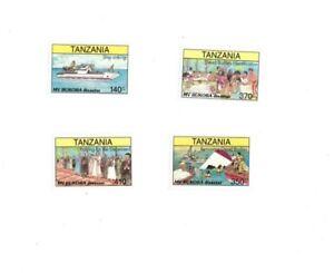 Tanzania 1997 - MV BUKOBA DISASTER  - Set of 4 Stamps - MNH