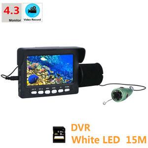 "Underwater Fishing Video Camera 4.3""HD DVR Recorder Monitor 6pcs 1W White LED"