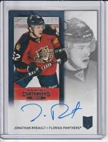 Jonathan Rheault Panthers 2013-14 Panini Contenders Autographed Rookie Card