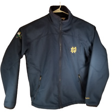 Columbia Notre Dame Soft Shell Jacket Mens L Fighting Irish Navy Blue Great Cond