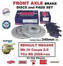 Für Renault Megane III Coupe 2.0 Tce Rs 2009- > auf Vorderachse Bremsbeläge +
