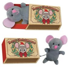 Christmas Plush Mouse In Vintage Matchbox.Cat Toy,novelty stocking xmas pressent