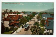 CANADA carte postale ancienne VANCOUVER Robson street tramway