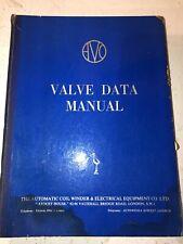AVO Valve Data Manual 9th Edition