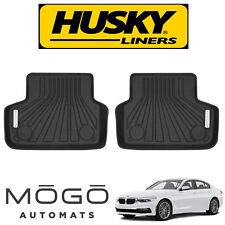 Husky Liners MOGO Luxury Black Rear Floor Liners Fits 2017 BMW 535i GT xDrive