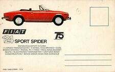 c1970s Fiat 124 Sport Spider Automobile Dealer Advertising Promo Postcard
