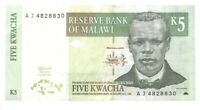 Banknote Malawi - 5 Kwacha - 1989
