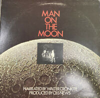 MAN ON THE MOON:  Narrated By Walter Cronkite Vinyl LP Moon Landing