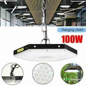 100W Watt LED Hallenbeleuchtung Deckenstrahler Werkstattleuchte Industrielampe