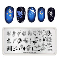 BORN PRETTY Stamping Plates Flower Butterfly Nail Stamp Stencil Artist L006