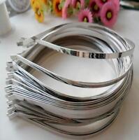 2Pcs 5mm Headband DIY Blank Metal Hairband Hair Band Hair Accessories Crafts