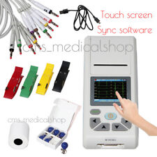 Handheld 12-Leads ECG/EKG Machine Electrocardiograph Thermal Printing,SD card
