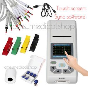Handheld 12-Leads ECG/EKG Machine Electrocardiograph Thermal Printing,SD card