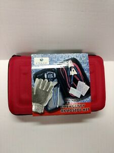 Auto Car Safety Emergency Roadside Kit Two Way Zipper Case Pouch Red First Aid