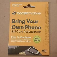 Boost Mobile 4 in 1 Bring Your Own Phone Sim Cards