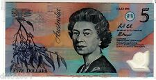 Australie AUSTRALIA Billet 5 Dollars 1992 P50a POLYMER WITH DATE  RARE UNC NEUF