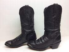 VTG WOMENS DURANGO TOE RAND COWBOY LEATHER BLACK BOOTS SIZE 6.5 M