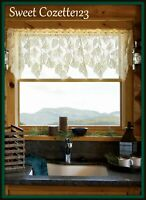 """HERITAGE LACE Ecru WOODLAND Alpine Woods Valance 60"""" x 16"""" Made USA New with Tag"""