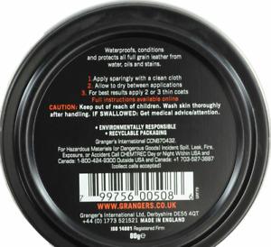 Grangers G-Wax 80g Leather Shoe/Boot Waterproof Beeswax Polish