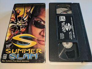 WWF Summerslam 2000 Wrestling PPV VHS Video The Rock vs Triple H vs Kurt Angle+