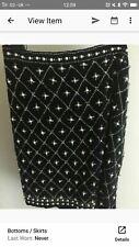 Zara Pearl Balmain Tudor Style Skirt Xs